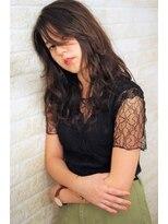 ヘアーアート シフォン 池袋東口店(Hair art chiffon)マーメイドアッシュのエフォートレスな斜めバングのハニーヘア