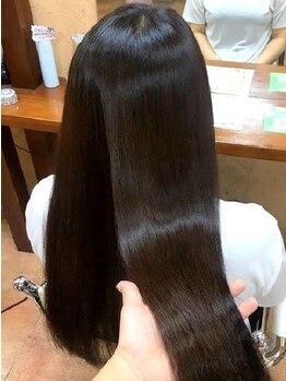 ヘアープランニング ゼロ(Hair Planning ZERO)の写真/『髪質改善』も叶う人気のふんわりストレート♪まるでトリートメントのような柔らかくナチュラルな仕上がり