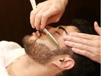 バルビエ グラン 銀座(barbier GRAND)の写真/【新富町1分】理容室だけの《うぶ毛シェービング》眉毛も自然で、清潔感のある美しい仕上がりに<理容室>