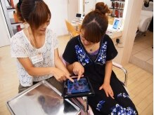 ヘアメイクアムスの雰囲気(iPadを使ったカウンセリングをはじめました。)