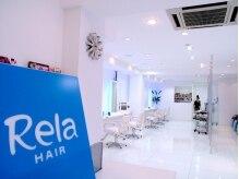 リラヘアー(Rela hair)の雰囲気(爽やかなブルーと清潔感溢れる白の店内でリラックス出来ますよ♪)