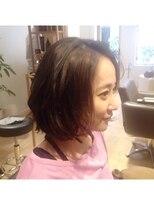 ハブコヘアスパ(HaBCo hair spa)ハイライト×ゆる巻きボブスタイル