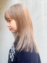 エイチスタンド 渋谷(H.STAND)髪質改善/ケアブリーチ/ベージュ/ミルクティーカラー/韓国/学割