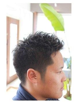 メンズ髪型 ベリーショート パーマ