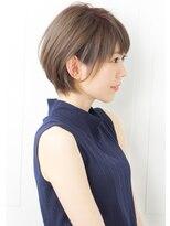【rue京都】大人可愛い小顔モカベージュ丸みショートボブサイド