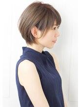 【rue京都】大人可愛い小顔ベージュ丸みショートボブサイド2019