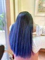 アマンドール(AMAN D'OR)色系も得意 ブルー バレイヤージュ