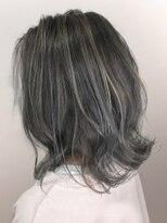 オーブ ヘアー エイト 中津店(AUBE HAIR eight)【AUBE HAIR】ホワイトグレージュ_外ハネロブ