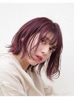 【+JOURS 加賀美 悟】チェリーピンク × シースルーバング