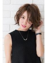 ミエルヘアー 新宿エスト3号店(miel hair)スポンテニアス甘辛MIXゆるふわショートボブ【新宿】
