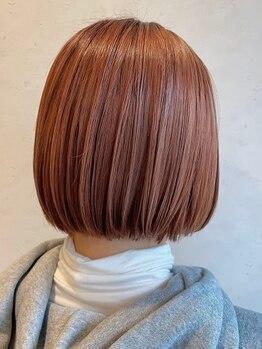 ヘアスペースブルーム エボリューション 庄内店(HAIR SPACE BLOOM evolution)の写真/気になる赤味も抑えるカラー剤を厳選!一人一人の頭皮と髪の事を考えて調合する極上の似合わせカラー☆