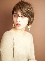 ベックヘアサロン 広尾店(BEKKU hair salon)片耳をかけてスッキリ☆見せる、モードなクールショートヘア