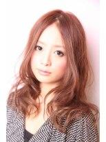 ダミアバイルル(DAMIA by LuLu)30★大人可愛い毛先ゆるカール×ピンクベージュ×センターパート
