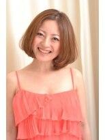 ヘアーラウンジ エゴ(Hair Lounge EGO)武蔵新城EGO 似合わせとろみワンカールのパーマミディアムヘア