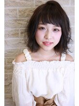 プレアヘアドレッシングナチュラルボブ☆暗髪×透明感カラー