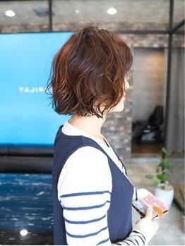 タジサスヘアー(TAJISAS HAIR)の写真/【尾道】《生涯通いたいと思うサロン*TAJISAS HAIR》再現性◎手ぐしでキマるスタイリッシュなパーマを実現