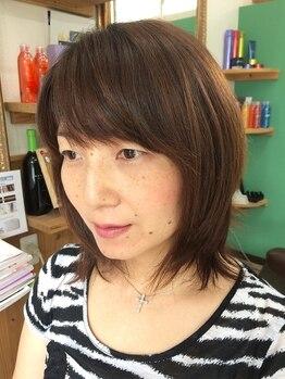 ヘアーサロン ラキア(Hair salon Lachia)の写真/「お客様の髪を大切にしたい」から髪や頭皮にやさしい商材にこだわる。天然由来成分配合でクリアな髪色へ♪