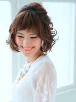 エルメ なんばマルイ(HELME)可愛い姫カットボブ☆ミルクティカラー☆クラシカルアレンジ