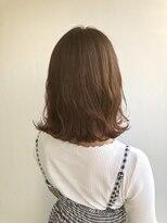 ヘアメイク オブジェ(hair make objet)オレンジブラウン ボブ