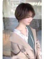 ヘアメイク シュシュ(Hair make chou chou)ショートパーマ黒髪ハイライトカラー20代30代大和八木