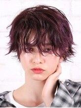 アース 西千葉店(HAIR&MAKE EARTH)外国人風ラズベリーボルドーショート