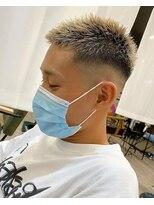 【京都 ルーナ】スキンフェード 金髪 ボウズ 平塚光輝