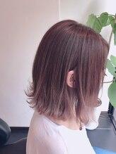 グランツヘアデザイン 四谷(GRANZ hair design)*切りっぱなし感の透明感ピンクアッシュグラデーション*