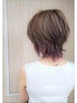 〇ウルフショート×ラベンダー(R-EVOLUT hair 鏑木亜魅)