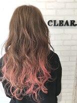 ヘアーアンドメイククリアー(Hair&Make CLEAR)ピーチインナーグラデーション