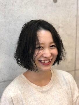 ヘアーデザイン ハック(HAIR Design HaC)【HaC】 切りっぱなしショート×クリスタルパーマ