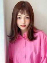 アグ ヘアー トレンチ 稲沢店(Agu hair trench)《Agu hair》重ためセミの外ハネガーリーカール