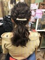 ヘアセットサロン アトリエ チャイ(Hair set salon atelier CHAI)ゆるっと編みローポニー