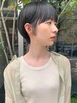 ラパンセブルー(LA PENSEE BLEU)【LA PENSEE】大人かわいいマッシュショート シースルー 黒髪