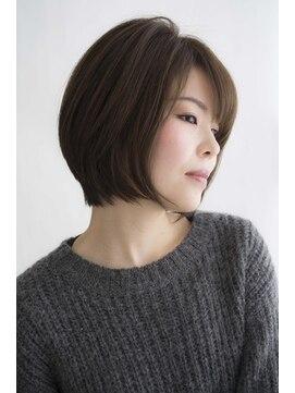 ハナブサ 御経塚店(HANABUSA)骨格補正抜群☆オトナショートボブ