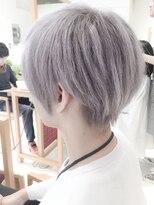 アシンメトリーウルフカット☆ブリーチホワイトヘア