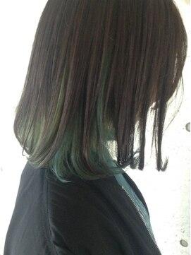 クアルト ヘア(Quarto hair)【Quarto】インナーカラー×ライトグリーン×似合わせカット☆