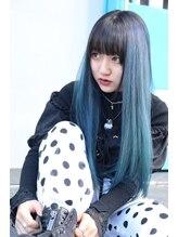 ロカリタフォーヘアー 御薗橋店(ROCAReTA FOR HAIR)鮮やか◎ブルー×ブラック
