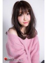 ソーホーニューヨーク(SOHO new york)☆シースルーバング☆大人のアッシュブラウン