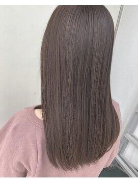 ジーナ 福岡天神(Zina)【Zina 福岡】髪質改善カラー☆シナモングレージュ