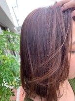 白髪も染まるピンクベージュ/グレイカラー