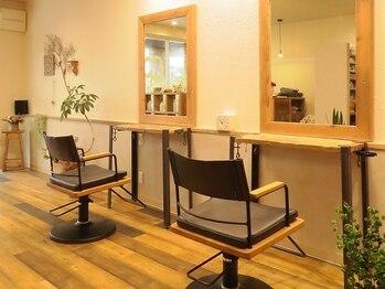 ヘアー サロン ラフ(hair salon raf)の写真/飾磨◆朝9時OPEN◆一人ひとりのお客様との時間を大切に。ほっこりくつろげる小さな美容室〈raf-ラフ〉