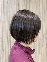 ビス ヘア アンド ビューティー 西新井店(Vis Hair&Beauty)10代 20代 シンプル ショート ボブ 前下がり アッシュブラウン