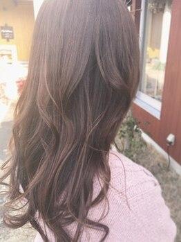 アッドランプ ヘアー 則武店(add Lamp hair)の写真/髪と頭皮に優しい&色持ち抜群の『天然小麦粉カラー』にリピーター続出中!トレンドカラーもうるツヤ美髪に♪