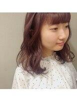 アルマヘアー(Alma hair by murasaki)ガーリーで可愛いピンクカラー