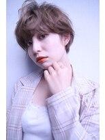 ルララドゥ大人可愛い/小顔耳掛けハンサムひし形ショート/西新井