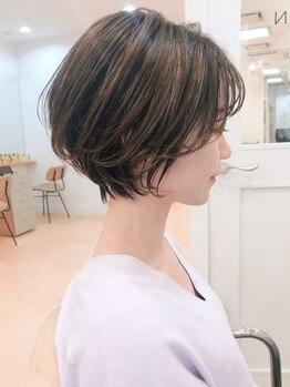 """ガーデンヘアー(Garden hair)の写真/シルエットにこだわり""""伸びても綺麗""""を実現♪細かなニュアンスもくみ取り可愛いを叶えます!小顔効果も◎"""