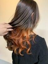 ノル(nol hair&spa)インナーカラー/オレンジ