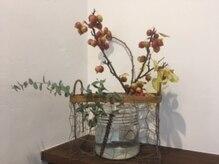 ボンヌ(bonne)の雰囲気(季節や癒しを感じる花を飾っています^^)