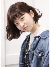 アリシア(ALICIA)☆セピアモーブ&毛束感☆ ひし形シルエットボブ
