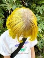 シンゴナカムラ ヘアカラーサロン(SHINGO NAKAMURA HAIR COLOR SALON)ハイトーンカラー★ホワイトブロンド × イエロー 自然光Ver.